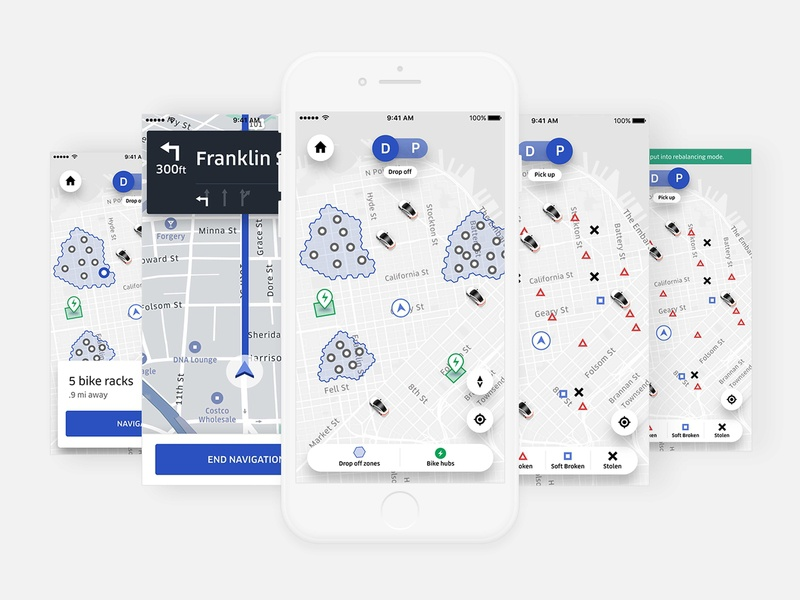 Uber Bike Ops App new mobility uber product design uber design internal tools fleet bike operation mobile