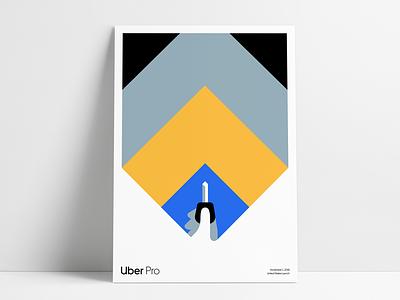 Uber Pro Launch Poster art poster illustration uber design uber