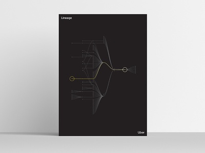 Lineage [Uber Platform Experience Poster Series] uber design uber product abstraction modernism modernist minimal simple visualization data visualization data celebration art print posters