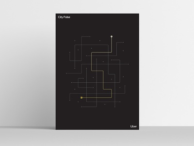 City Pulse [Uber Platform Experience Poster Series] uber design uber product abstraction modernism modernist minimal simple visualization data visualization data celebration art print posters