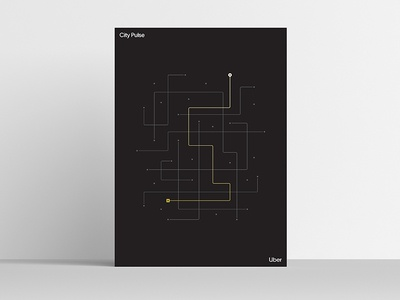 City Pulse [Uber Platform Experience Poster Series] uber design uber product abstraction modernism modernist minimal simple visualization data visualization data celebration art print posters