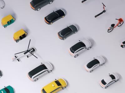 Upgrading Uber's 3D Fleet product design vehicles upgrade rideshare app rider animation 3d fleet uber design uber