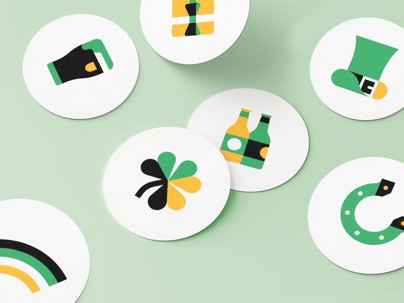 Happy St Patrick's Day from Uber! stickers holiday stickers holiday design holiday cards holidays holiday lucky st patricks day design illustration uber design uber