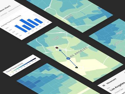 Time Machine - Using Color to Explore TravelTime map ui data maps data visualization map visualization