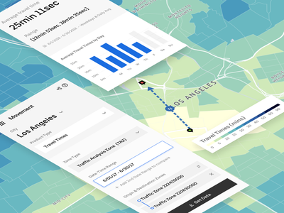 Time Machine - Using Color to Explore Travel Time menu bar drop down picker data visualisation data vis map design map ui map data product design ui data visualization app design
