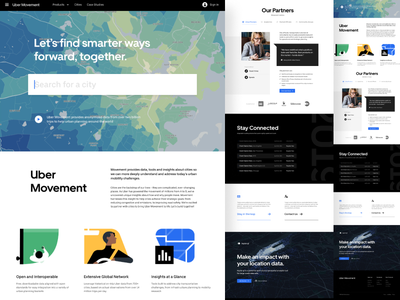 Uber Movement uber uber design ui design data viz website design website map data visualization