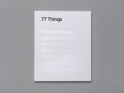 77 Things about Uber Design Book Cover