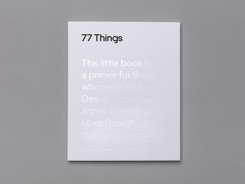 77 Things about Uber Design Book Cover book type art typedesign typeface type design typogaphy type uber