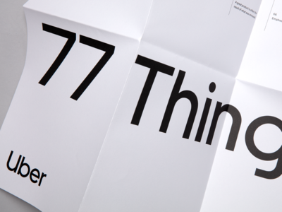 77 Things—A poster of words to design by