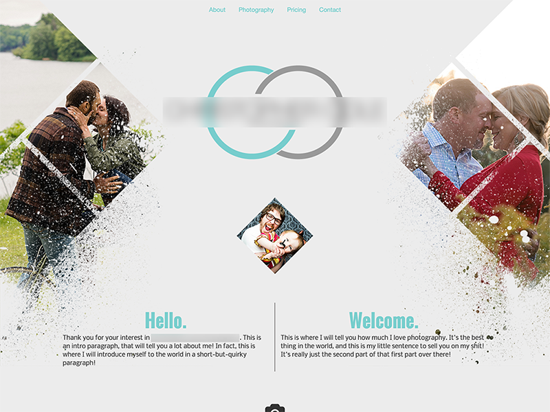 Photography Website geometric minimal web uiux ux ui landing page landingpage website homepage