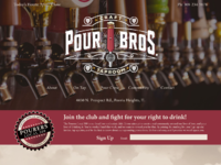 Pour brothers mockup