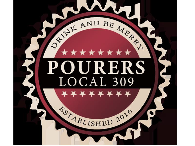 Pourers Local 309 americana badge logo design logo