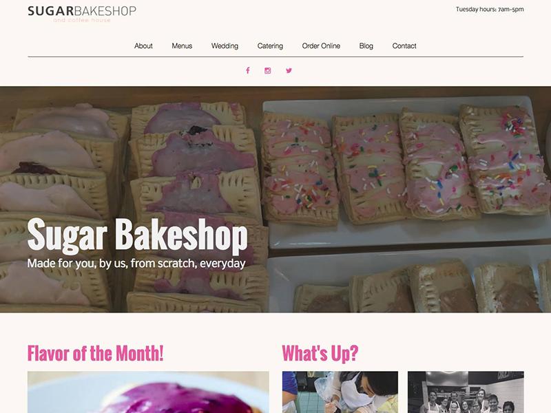 Sugar Bakeshop Redesign bakery redesign landing page landingpage webdesign web design