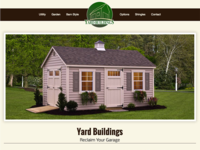 Shed Website Mockup