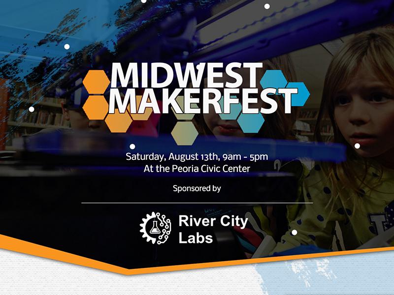 Midwest MakerFest Mockup website web design web ux ui geometric asymmetric landing page homepage concept