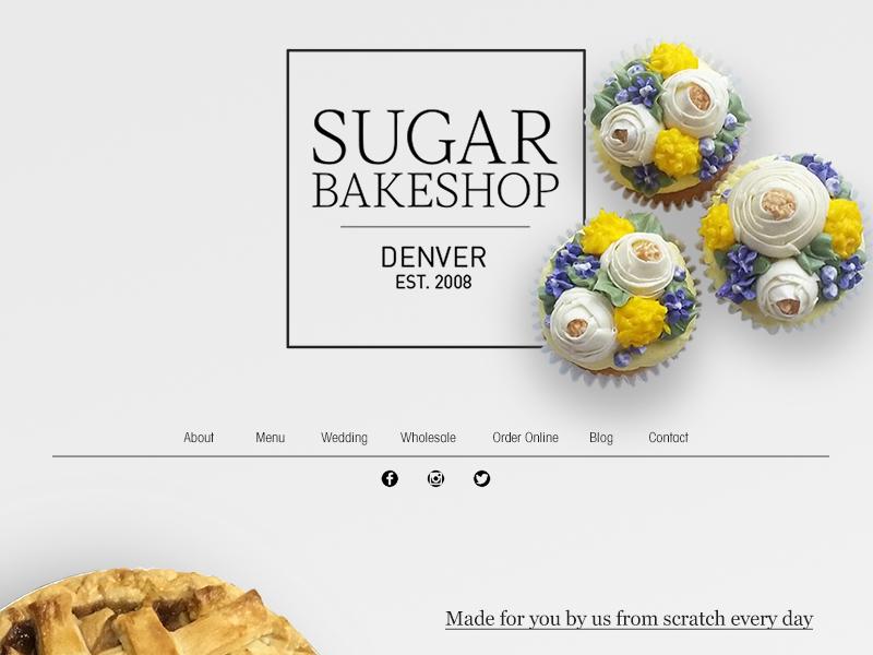 Bakery Website home page landing page mockup wip uiux ux ui website web design