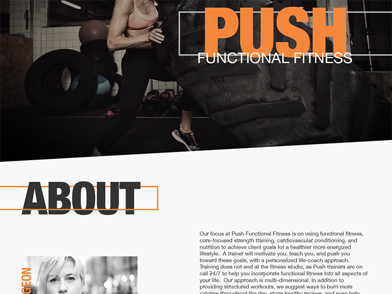 Fitness Website home page landing page mockup wip uiux ux ui website web design