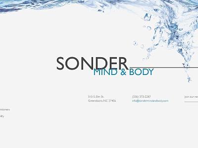 Sonder Again wip website uiux portfolio personal website mockup landing page home page design
