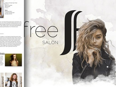 Scottfree Salon wip website uiux portfolio personal website mockup landing page home page design