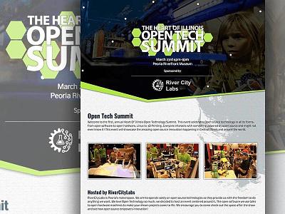 Open Tech Summit wip website uiux portfolio personal website mockup landing page home page design
