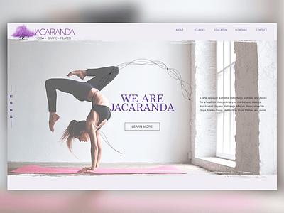 Jacaranda Final wip website uiux portfolio personal website mockup landing page home page design