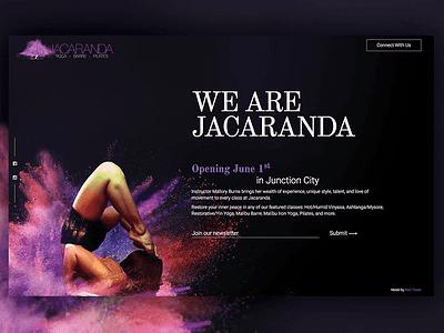 Jacaranda Proposed Mockup wip website uiux portfolio personal website mockup landing page home page design