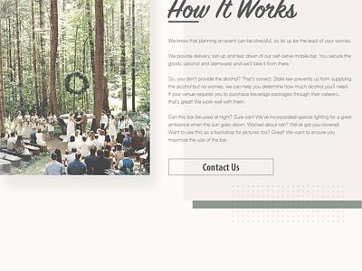 Pour Me Website responsive web web design portfolio ux ui mockup home page website design uiux landing page