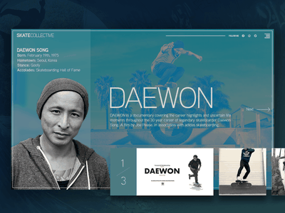 Daewon Song responsive web web design portfolio ux ui mockup home page website design uiux landing page