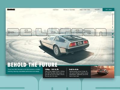Behold the Future web design portfolio ux ui mockup home page website uiux design landing page