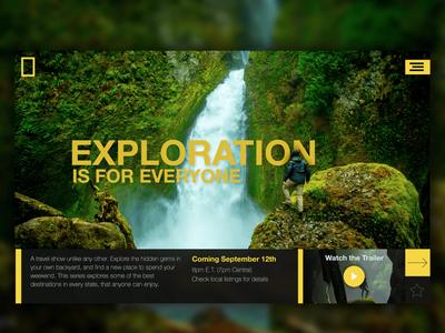 Exploration by Nat Geo web design portfolio ux ui mockup home page website design uiux landing page