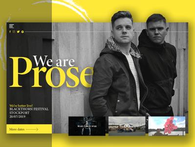 We Are Prose web design portfolio ux ui mockup home page website design uiux landing page