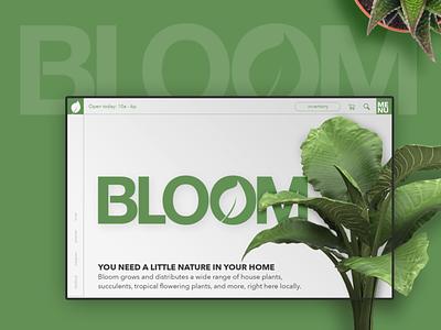 Plant Shop UI web design portfolio ux ui mockup home page website design uiux landing page
