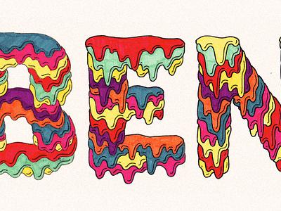 Benno Goop syrup color paper pen marker hand drawn goop lettering