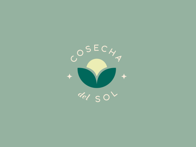Logo Cosecha del Sol mexico cuu vector graphic design color logo branding design