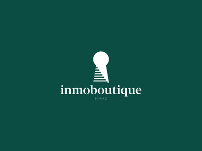 """Inmoboutique"" Real state logo design keyhole elegant modern real state agency icon typography design logo vector branding graphic design"