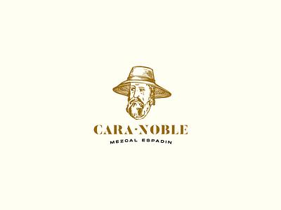 Cara Noble Mezcal logo design illustration ilustracion typography character art logo branding graphic design chihuahua cuu design mexico mezcal