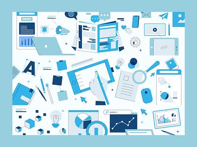 AiFi Web page illustrations ilustracion color vector branding art character design graphic design illustration