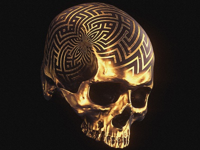 Memento Mori I billelis illuminati 3d illustration symbolism symbol mandala tattoo geometric symmetry ornate decorative