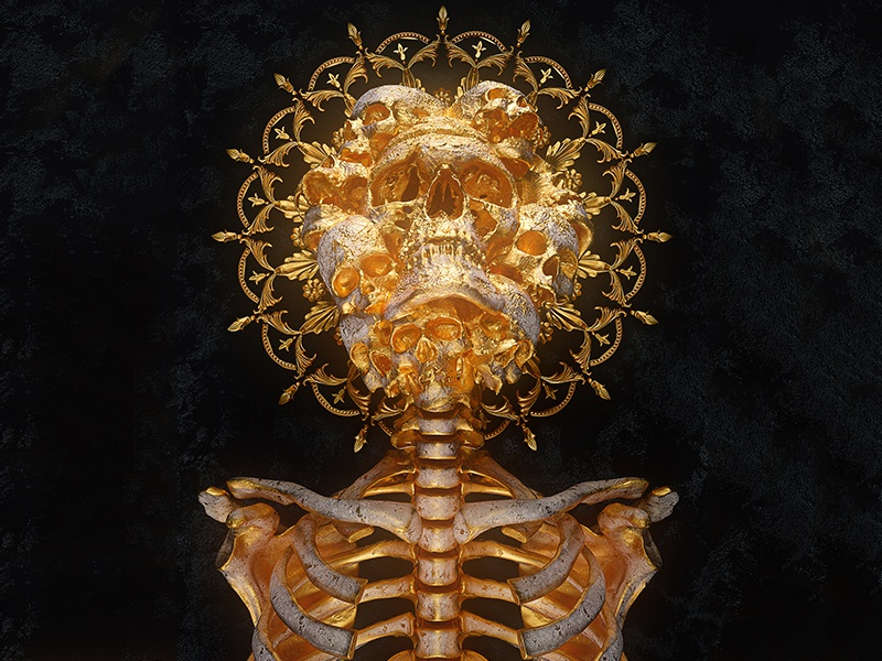 Memento Mori II billelis illuminati 3d illustration symbolism symbol mandala tattoo geometric symmetry ornate decorative
