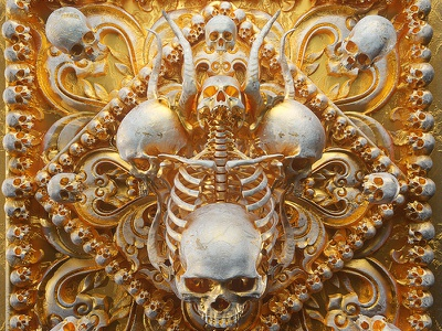 Memento Mori VIII billelis illuminati 3d illustration symbolism symbol mandala tattoo geometric symmetry ornate decorative