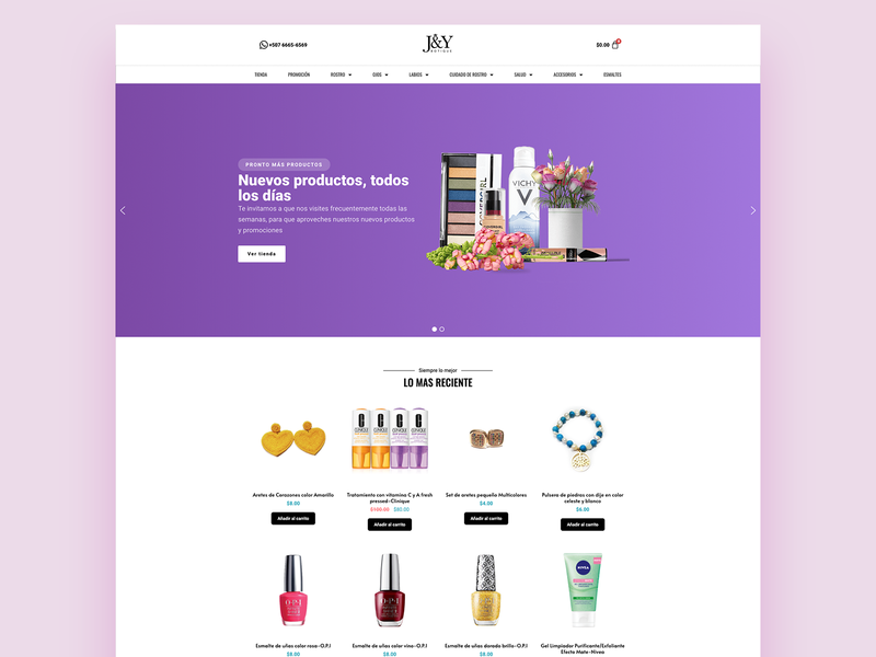 Web Ecommerce cosmetic and health products. designs website web app design concept app ux web design design ui