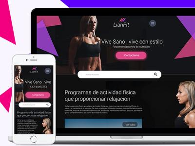 Lianfit Web Responsive