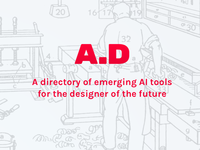 A.D – a stash of AI tools for designers