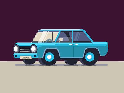 The Classic blue beauty vectordesign vintage old vintagecar classicmodel car