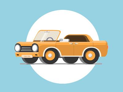 Orange classic illustration shine blue orange vectordesign vintage old vintagecar classicmodel car