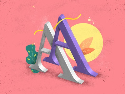 36 Days of Type - A type typography a textures illustration letter 36days-a 36daysoftype composition