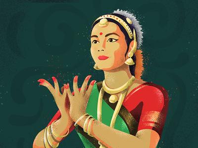 Bharatnatyam art pentool style culture indiandance bharatnatyam illustration danceday