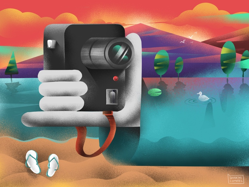Selfie fingers hand concept water nature textures grains apple procreate hand camera selfie handdrawn art illustration