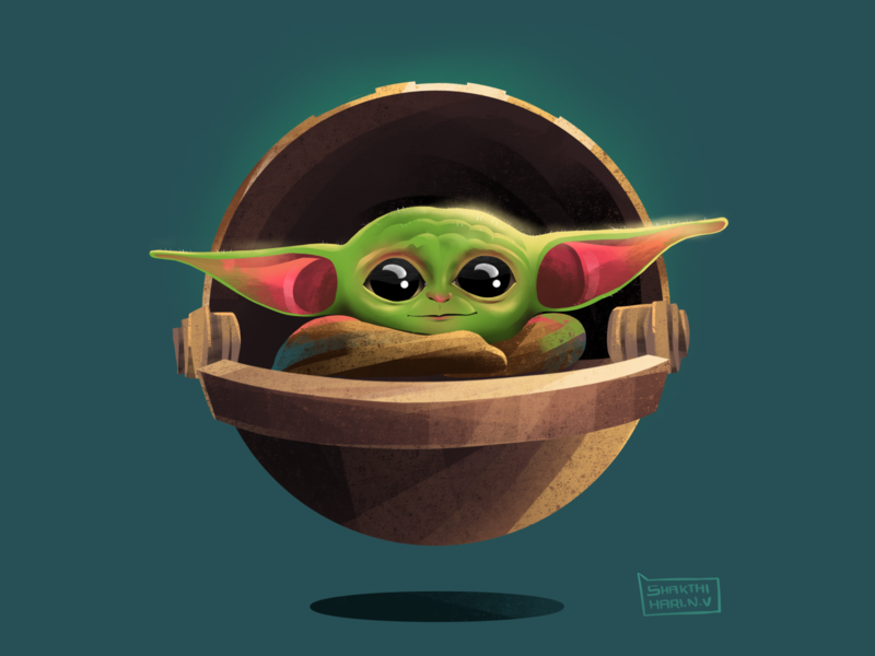 Baby Yoda concept space spaceship alien texture procreate app procreate art procreate 2dillustration 2d illustration babyyoda yoda starwars