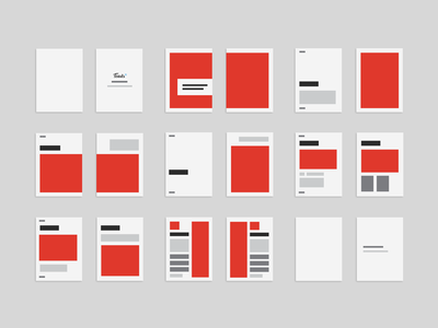 Design layout for a book design layout magazine book a5 wideframe storyboard red paper